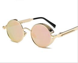 Optical Sunglasses Designer Canada - Vintage Optical Round Metal Sunglasses Steampunk Men Women New Fashion Glasses Luxury Designer Retro Vintage Sunglasses UV400 6pcs Lot