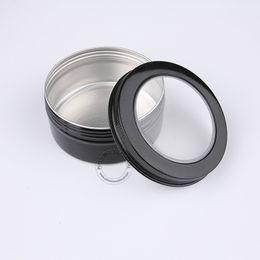 $enCountryForm.capitalKeyWord Canada - DIY Essential Makeup Tools 150g Black Aluminium Cosmetic Jars, 5oz Visible Metal Display Box, Storage Jar For Accessories 50pcs