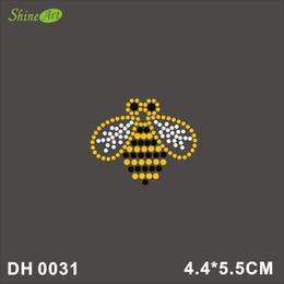$enCountryForm.capitalKeyWord Canada - Free shipping Rhinestone Crystal Iron On T Shirt Design Transfer - Bee Wasp DIY DH0031