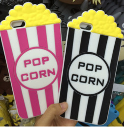 $enCountryForm.capitalKeyWord NZ - 3D popcorn Silicone Case For IPhone 7 7PLUS 6 6S Plus S5 S6 S7 NOTE5 Fashion Rubber Gel Cute Phone Cover Skin