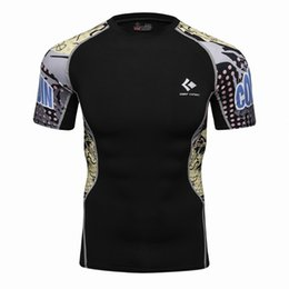 $enCountryForm.capitalKeyWord NZ - Mens Compression T Shirts Skin Tight Thermal Short Sleeve Rashguard MMA Crossfit Exercise Workout Fitness Sportswear TEES