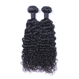 Discount bundles weft hair - Brazilian Virgin Human Hair Jerry Curly Unprocessed Remy Hair Weaves Double Wefts 100g Bundle 2bundle lot Can be Dyed Bl