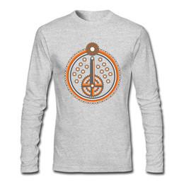 T Parts Canada - New trend men's print t-shirt bike parts circle pattern design man's long-sleeves fall tee shirt super snug cotton clothing for boy
