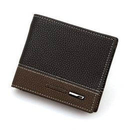 Chinese  Wholesale- High Quality Mens Leather Bifold Money Card Holder Wallet Coin Purse Clutch Pockets manufacturers