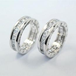 Marca de lujo original 925 Silver Pricness Cut CZ Letter Ring para mujeres Wedding
