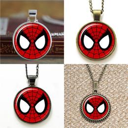 Spiderman necklaceS online shopping - 10pcs Retro s Spiderman symbol inspired Necklace keyring bookmark cufflink earring bracelet