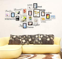 $enCountryForm.capitalKeyWord NZ - Family Words Wall Decal Set of 12 love trust blessing smile Quotes Vinyl Wall Sticker Picture Wall Decal Room Art Decoration