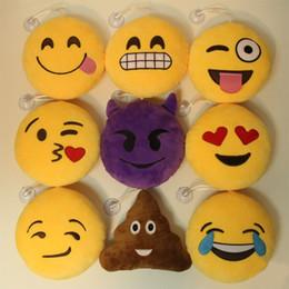 Alta Qualidade Emoji Sorriso Pingente de Pelúcia Brinquedos Travesseiro 15 cm Amarelo QQ Smiley Recheado Pingente com Ventosas para Vara Presente Da Promoção de Natal em Promoção