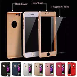 c97509a07d9 For Iphone5 6 7 Plus 360 Degree Full Body Cover Protection Luxury Cases 3  in 1 Armor Back Cover Funda Tempered Glass Film