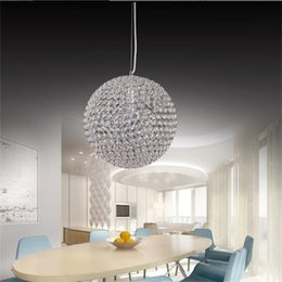 big discount luxury led round crystal chandeliers restaurant chandeliers bedroom study crystal chandeliers for voltage 90260v - Discount Chandeliers