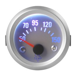 "52mm car meter UK - High Quality 2"" 52mm 50~150 Celsius Degree Oil Temperature Meter Gauge with Sensor for Auto Car CEC_508"