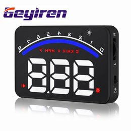 $enCountryForm.capitalKeyWord Canada - New type high tech 3.5inch M6 car OBD2 HUD head up display screen LED vehicle mounted digital overspeed alarm mile free switch