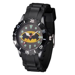 Wholesale Cartoon Cute Children students girl s Boy s Batman Spiderman style Silicone strap quartz wrist watch
