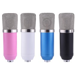 Wholesale Microfone BM700 Condenser Wired Microphone for Computer Network sing Recording Chat Video Conference Games microfone condensador