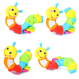 $enCountryForm.capitalKeyWord Australia - Kids Educational Toys Baby Rattle Lovely Worm Toys Insert Puzzle Turning for Baby Kids Fingers Flexible Training Xmas Gifts