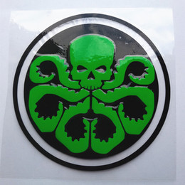 Discount color changing plastic sheet - Whole sale Fuel tank cap waterproof skull car sticker KQY-2
