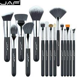 Black Brand Makeup Canada - JAF Brand 15 pcs set Makeup Brushes 15 pcs make up brush set high quality make-up brush kit free shipping J1502SSY-B