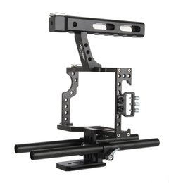 Handle Grip Camera Dslr Australia - Freeshipping 15mm Rod Rig DSLR Camera Video Cage Kit Stabilizer + Top Handle Grip for Sony A7 II A7RII A7SII A6300 A6000 GH4 EOS M5