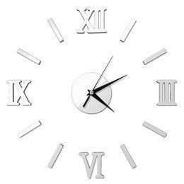 large office wall clocks. wholesalehigh quality diy home decor large quartz wall clock stickers living room office bedroom decoration roman numerals clocks