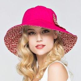 Wholesale- Summer Large Brim Beach Sun Hats for Women UV Protection Hat  Women with Big Heads Foldable Style Fashion Lady s Sun Beach Hats e26ea320634b