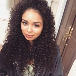 Human Hair Kinky Canada - Glueless Lace Front Human Hair Wigs Brazilian Virgin Kinky Curly Full Lace Wig With Baby Hair Lace Front Wigs For Black Women