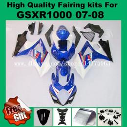 suzuki k8 gold 2019 - 9Gifts, Fairing kits for SUZUKI 07 08 GSXR1000 2007 2008 #CJ31-T3 GSX-R1000 07 08 Fairings kit K7 K8 Blue black white wi