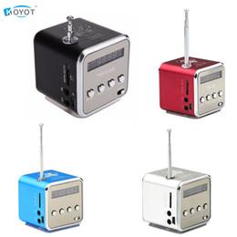 Discount mp4 micro speaker - Wholesale- TD-V26 Mini Portable Speaker Micro SD TF Speakers Music Player MP3 FM Radio USB Stereo PC For MP4 Computer