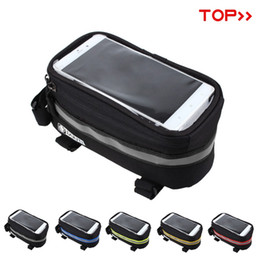 "$enCountryForm.capitalKeyWord Canada - New panniers Frame Front Tube Bag For Cell Phone MTB Bike Touch Screen Bag For iphone 6 Plus 4.8"" 5.7""Cycling Bike Bicycle bags"