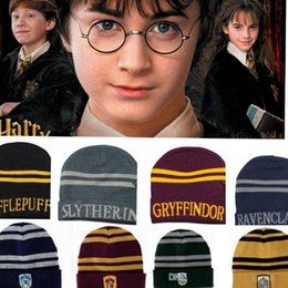 Harry Potter Hat Hogwarts Gryffindor Slytherin Ravenclaw Hufflepuff Badge  Hat Skull Caps winter Hats Hallowmas Gift for men women 240633 3882d6eff6cd