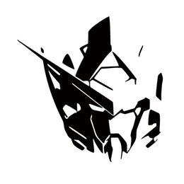 Chinese  Car Styling For Gundam Exia Gn001 Head Vinyl Decal Sticker Robot Manga Anime Jdm Window Car Accessories Decor manufacturers