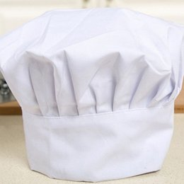 $enCountryForm.capitalKeyWord NZ - 25Pcs White Chef Hat Cook Adjustable Men Kitchen Baker Chef Elastic Cap Hat Catering Comfortable