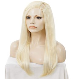 Discount human hair wigs for white women - 613 Blonde U Part Human Hair Wigs For White Black Women Straight Peruvian Virgin Hair Glueless Lace Wigs 8-24 inch