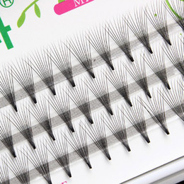 12mm eyelashes NZ - 10 Strands 8-12mm Grafting eyelash extensions Flare eyelashes variety length handmade natural Silk eyelash wholesale price free shipping