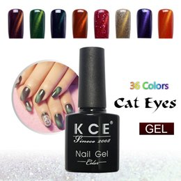 Barato Cola Pregos China-Atacado-KCE Marca UV cola unha polonês manicure LED gatos olho 36 cor 10 ml saudável olho de gato prego e pintura plástica verde Made In China