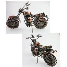 Wholesale Retro style iron Art Creative Handmade Motorcycle Model Toys Metal Motorbike Model Toy For Men Gift Home Decor Large Size