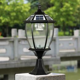 Solar Power Post Lantern Outdoor Post Lights Super Bright Led Garden Lights Walll Lamp Warm White Cold White Color Light Sensor Functions
