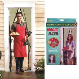 Fly Insect Door Screen Canada - HANDS-FREE Screen Door Summer Mosquito Net Curtain Screen Mesh Magnetic Doors Insect Fly Bug Mosquito Net Curtain Polyester Door