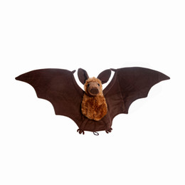 Animal Bat Toys UK - Plush Bat Doll Soft Simulation Stuffed Animal Collection Toys Bat with Wings Christmas Gift for Boys Girls Kids 27*9""