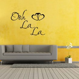 Paris Stickers For Walls NZ - For Ooh La La Paris France Hearts Love Quote Vinyl Wall Removable Decal Decor Art Sticker Bedroom Sitting Room Diy