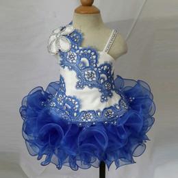 $enCountryForm.capitalKeyWord Australia - Spaghetti lace beads hand made flower cheap mini short ball gown cupcake toddler little girls pageant dresses flower girl for weddings glitz