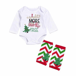 Barato Longos Macacões De Moda-Mikrdoo Fashion Baby Christmas Clothes Sets Newborn Infant manga comprida Romper Jumpsuit + quente Socking Outfits kids Christmas Clothing