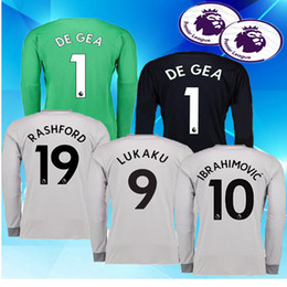 cdf635caa 8 Photos Custom Thai Quality 17-18 New 10 IBRAHIMOVIC Football Jersey Long  Sleeve Shirt Top
