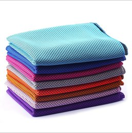 China 2017 summer ice cool towel double dual layer color cold cooling sports towels exercise PVA washcloth 90*35cm unisex for children adults new suppliers