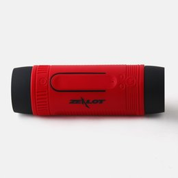 Chinese  Zealot S1 Waterproof Wireless Bluetooth Speaker PowerBank Output 3 Mode Flashlight Handsfree for Smartphone with bracket Epacket manufacturers