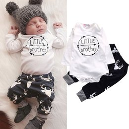 $enCountryForm.capitalKeyWord NZ - Newborn Baby boy Boy boutique Romper Clothes Deer Tops T-shirt Deer Sweatshirts+Pants Leggings 2pcs Outfits Set infant toddler clothing set