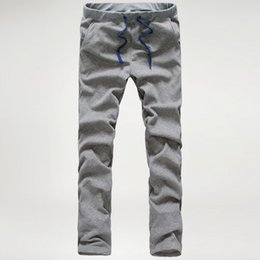 Poches En Gros De Pantalons De Survêtement Pas Cher-Vente en gros - Pantalons de survêtement pour hommes Casual loose Hommes Pantalon Multi Pocket Couleur solide Overall for Men Pantalons de survêtement en plein air Pantalons de jogging MQ511