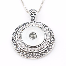 New free Necklace online shopping - New Arrive Snap Button Necklace Snap Pendant For mm Snap With Free cm Chain Nd5200 Jewelry Christmas Gift