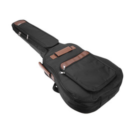 Chinese  41 inch Classic Soft Acoustic Guitar Bass Case Bag Holder Cotton Padded Gig Bag Case Guitar Backpack Black manufacturers