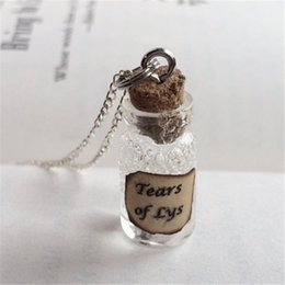 Discount wholesale game thrones gifts - 12pcs lot Tears of Lys Bottle Necklace Pendant inspired by Game of Thrones