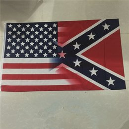 Hot rebel online shopping - Newest cm American Flag with Confederate Rebel Civil War Flag new style hot sell x5 Foot Flag Free Fedex DHL I034